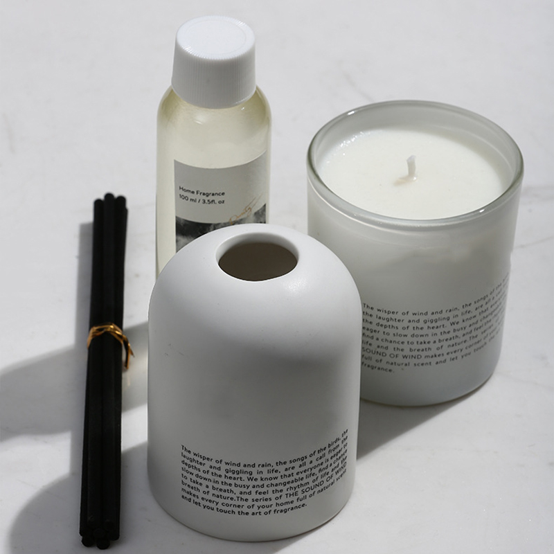 Candle supplier customized own brand wholesale Luxury scented candle and diffuser gift set with private design