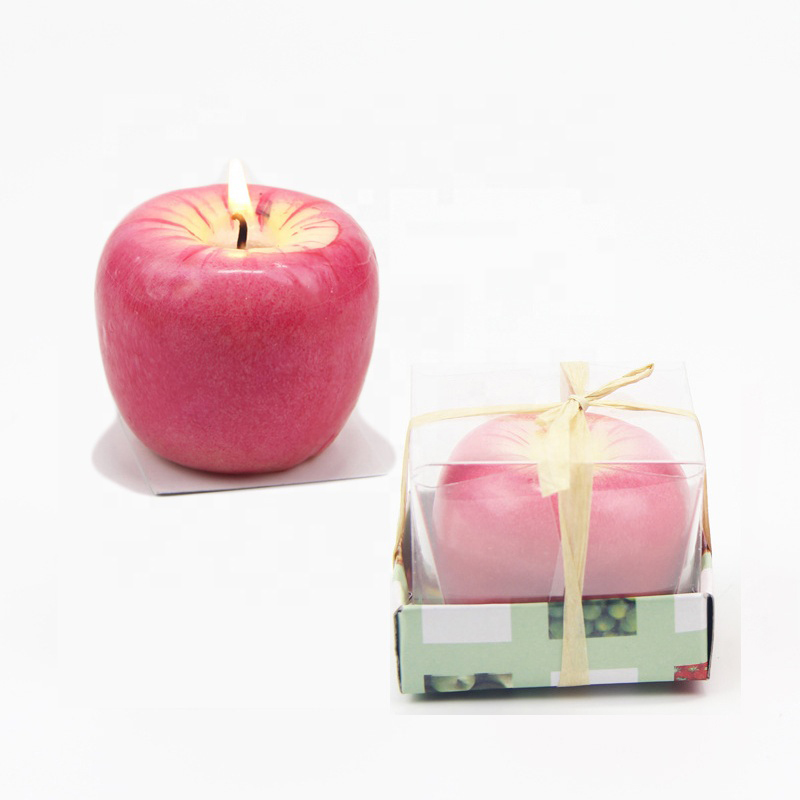 Wholesale England Christmas apple scented candles with custom private label