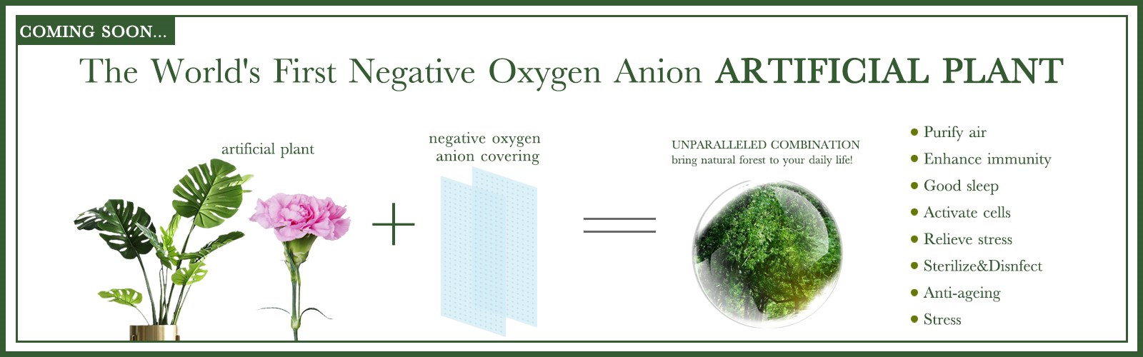 Negative oxygen ions producer