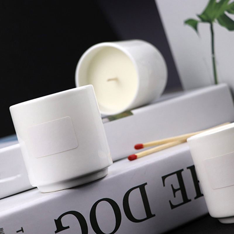 Wholesale ceramic private label scented candles China manufacturers free samples supply