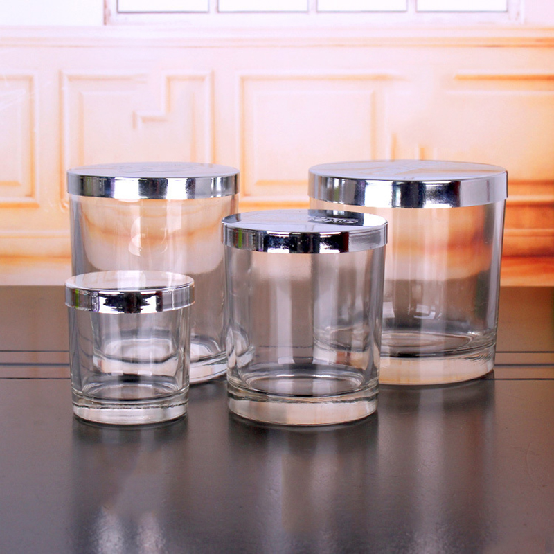 Candle wholesaler glass votive candle holders with different sizes for home decor