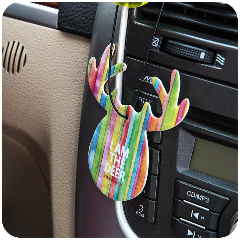 Popular custom aroma scented hanging paper cards car air freshener