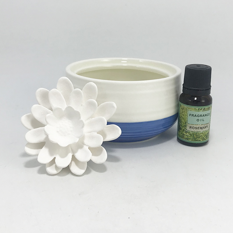 Private label Australia ceramic flower essential oil diffuser for home decor