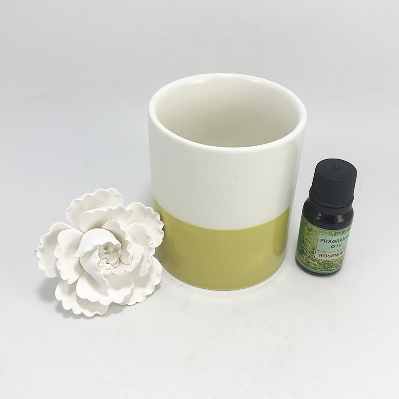 Free sample supply London ceramic flower essential oil diffuser with customized packaging
