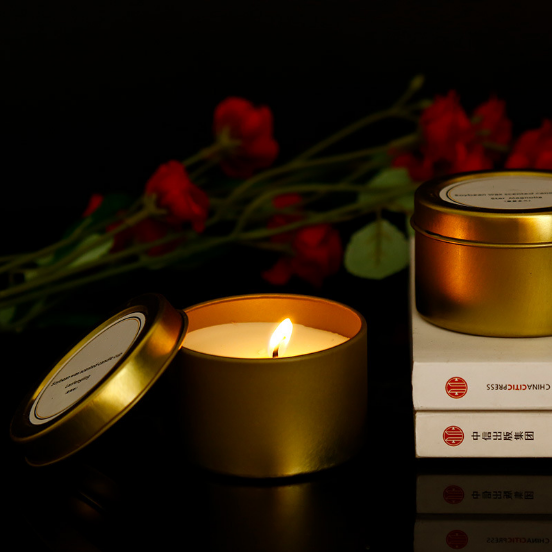 80g Own brand custom private label scented travel candles tins wholesale China manufacturers