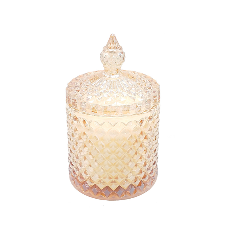 Free samples supply  embossed luxury personalized glass scented candle for home decor with OEM ODM candle service