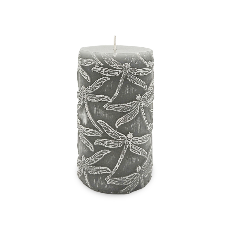 Embossed luxury Christmas scented pillar candle Australia for home fragrance
