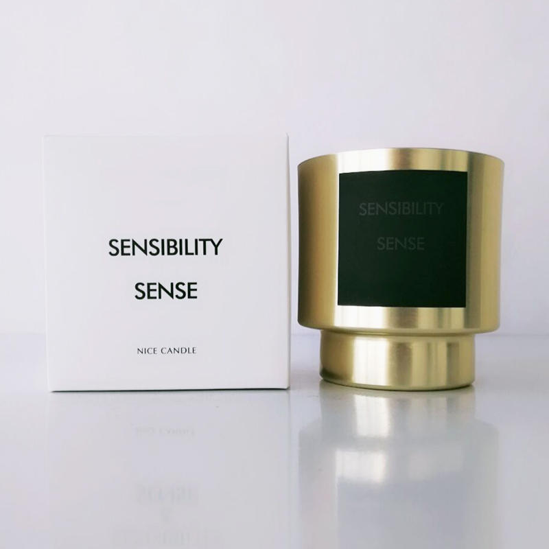 Golden scented candles with own brand label and packaging Australia for party