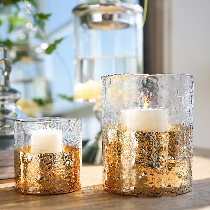 Customize own brand design packaging box wholesale luxury pillar candle holders with different sizes for home decor