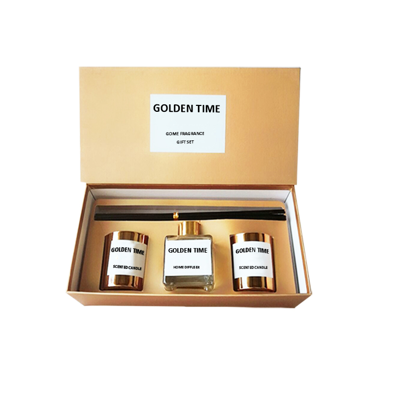 Private label customized luxury scented candle reed diffuser UK home fragrance gift set