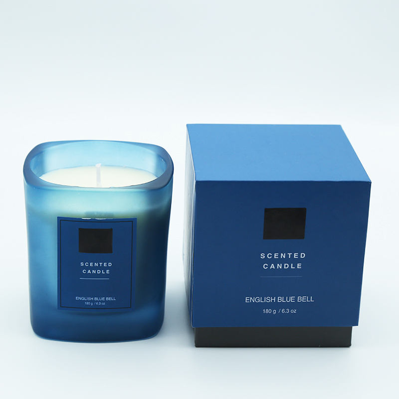 Luxury private label soy wax scented candles with customized own brand name packaging