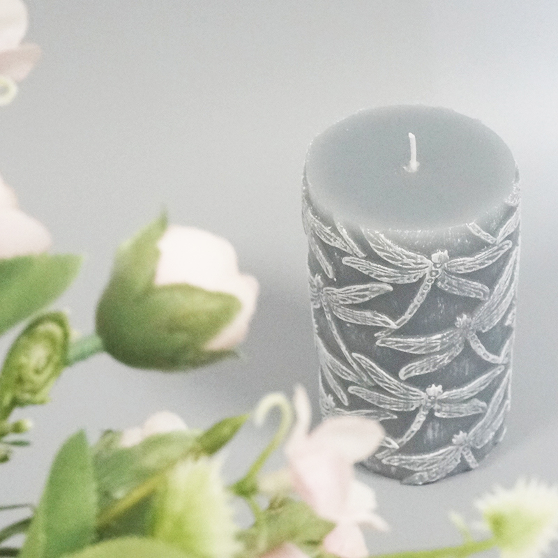 UK 450g scented pillar candle with customization for anniversary party events