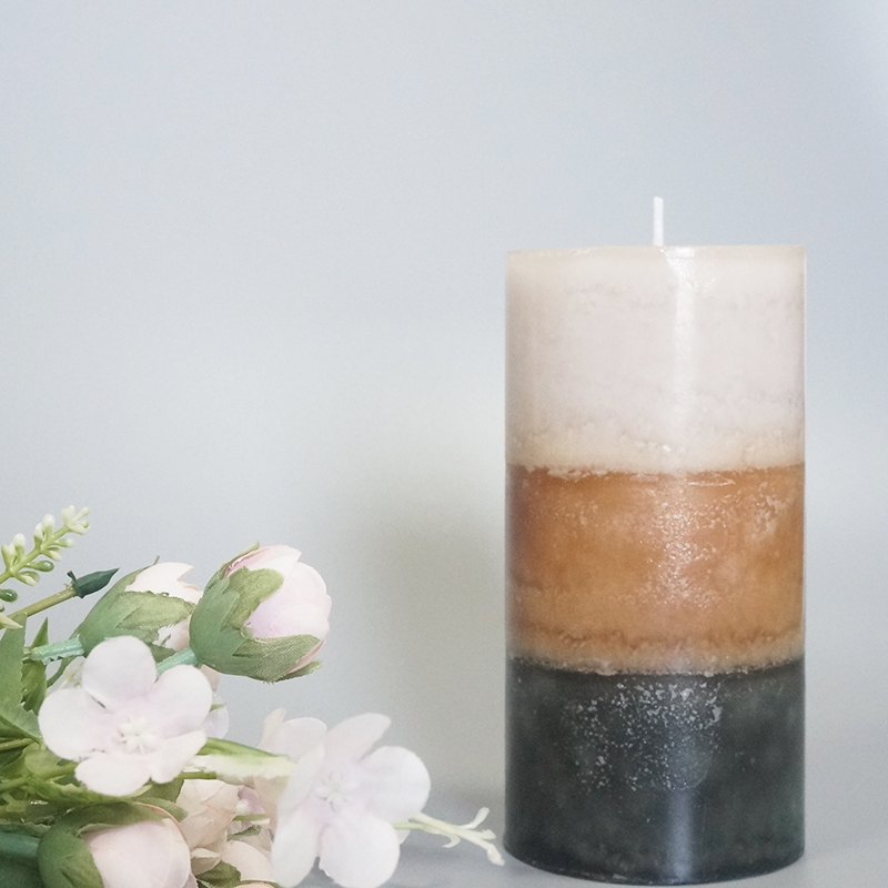 50hrs private label Australia scented pillar candle with different sizes and colors customization