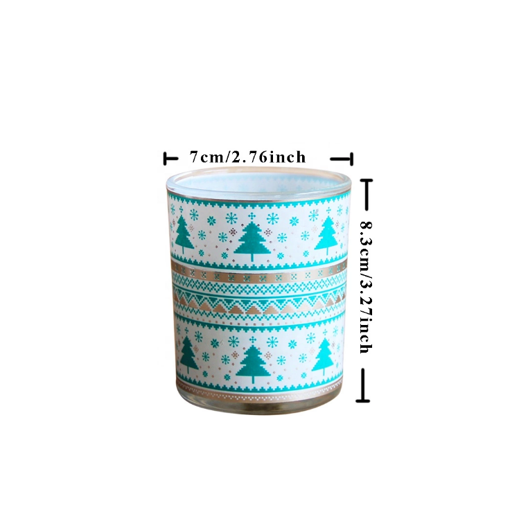 Hot sale custom 140g Christmas scented soy wax candles manufacturer with own brand design