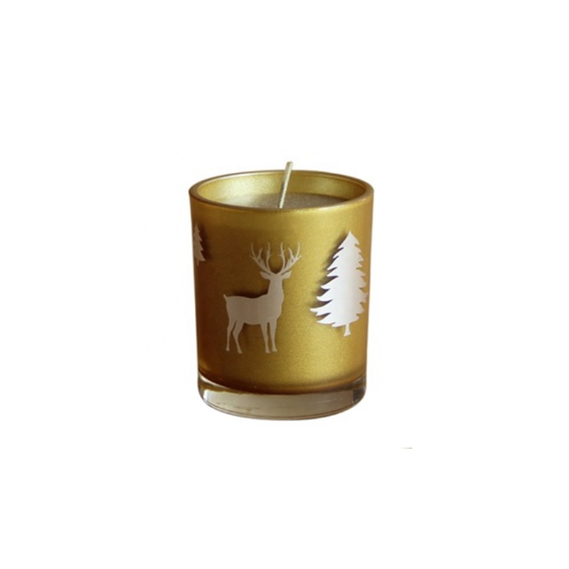 7*8cm Hand pour natural soy wax scented Christmas candles China manufacturer brand custom