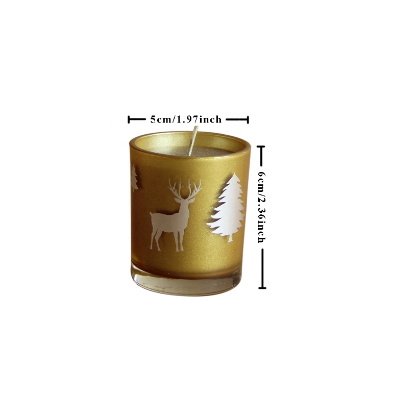 Own brand logo custom luxury golden Christmas scented glass jar candles manufacturer
