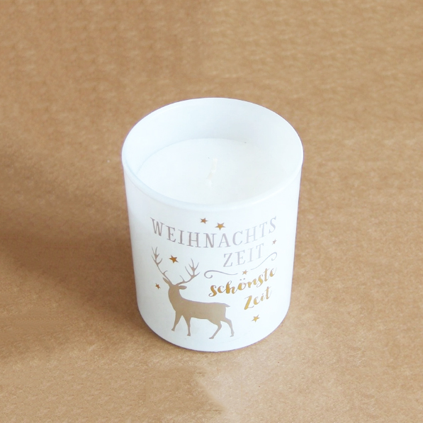 Free samples supply UK 7*8cm Christmas scented candles manufacturer own brand logo