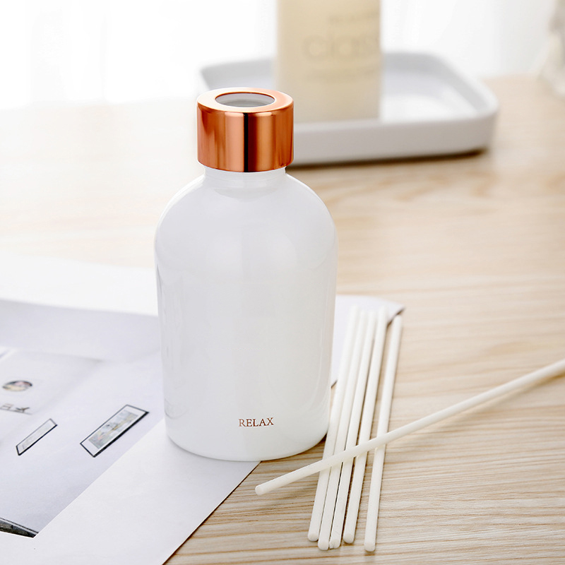 Reed diffuser vendors Wholesale private label luxury aromatherapy essential oil aroma reed diffuser with rattan sticker