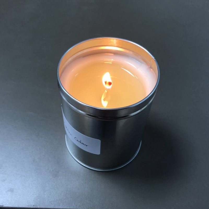 Wholesale 350g UK custom private label scented travel scented soy wax candles tins supply free samples