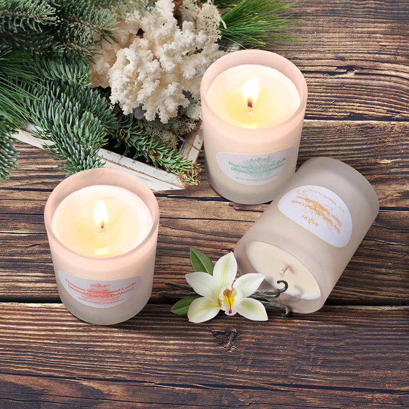 Customized packaging private label wholesale lavender scented candles for home decor