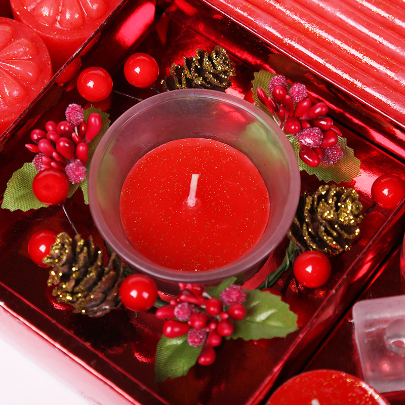 Own brand packaging customized wholesale Christmas scented candle gift set with private label in different colors
