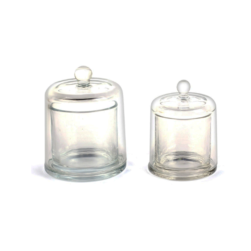 Wholesale luxury customized glass candle holder with cloche UK for home decor