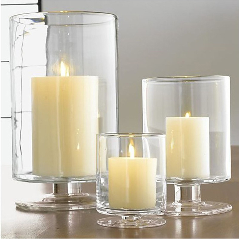 Free samples supple private label wholesale hurricane candle holders with different sizes for home decor