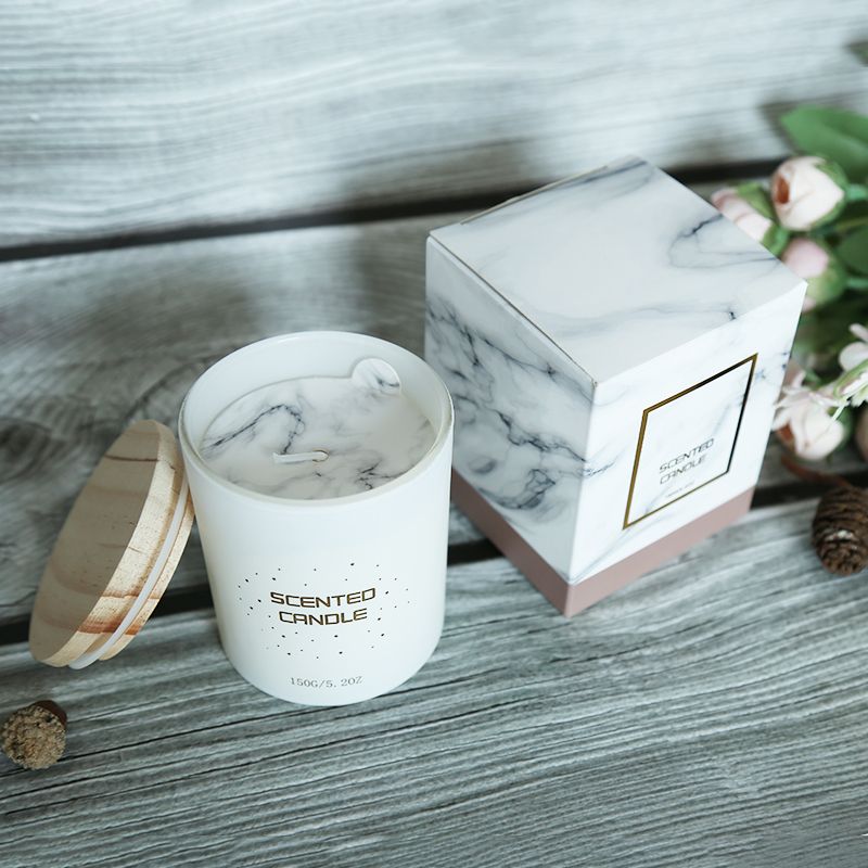 Own brand customized private label scented candles with wooden lid for home decor