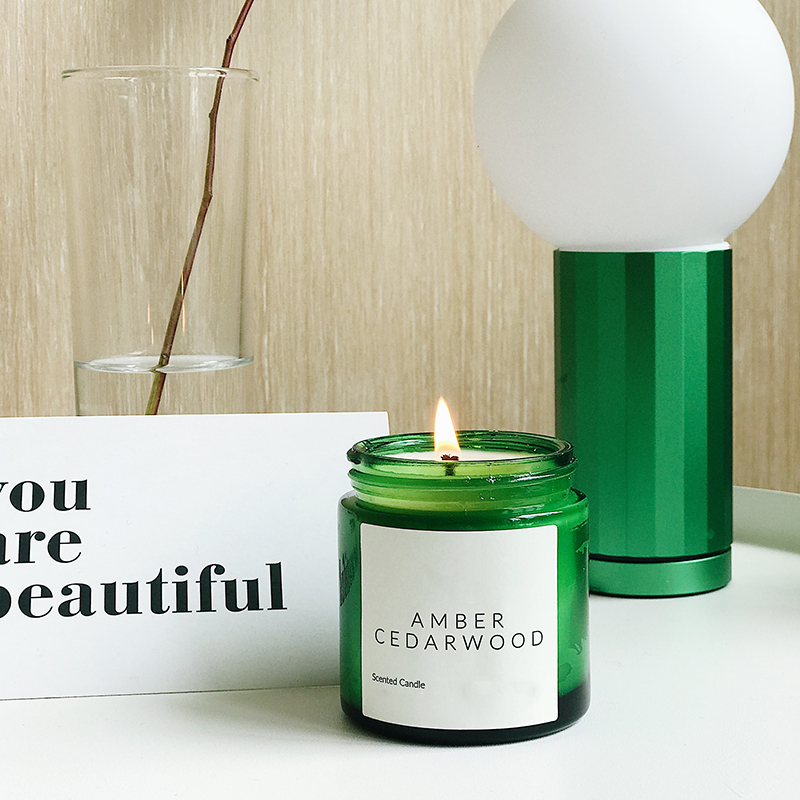 Professional candle supplier wholesale glass scented candle hot selling home decor  minimalist  with metal lid