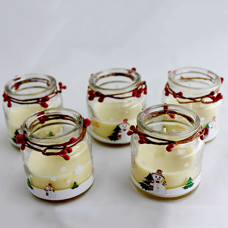 Candle wholesaler Christmas scented candle with private label and customized packaging for home decor