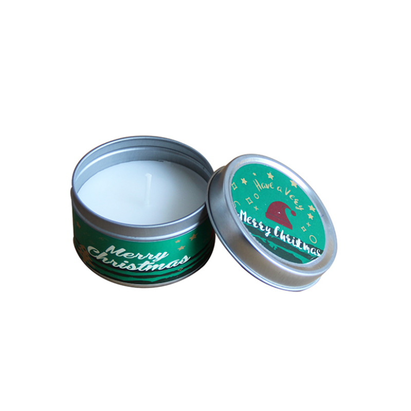 Ireland Brand custom Christmas scented candle tins with private label