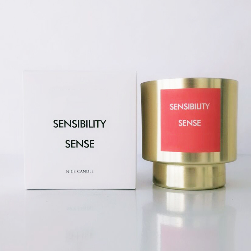 Golden private label luxury scented candles European free samples supply for home decor