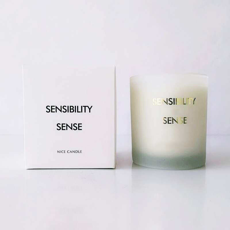 150g,200g frosted glass scented candle with private label for gift