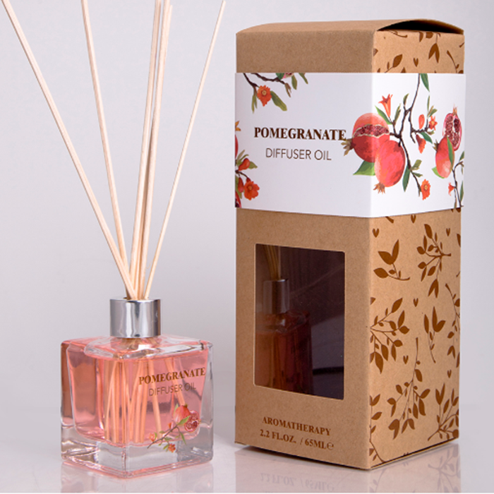 Own brand custom small size 65ml aroma reed diffuser China supplier oil gift set
