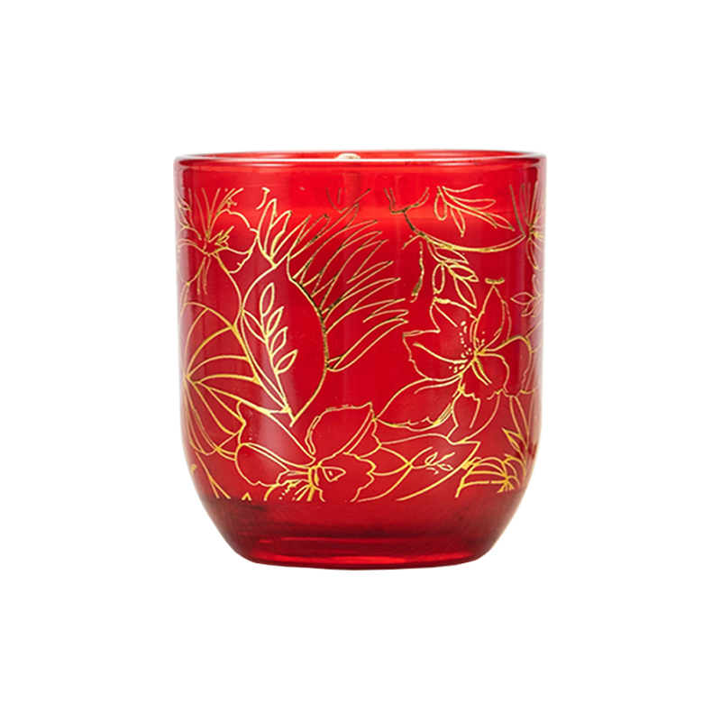 Candle manufacturer wholesale customized luxury scented glass candle with foil decal for home decor